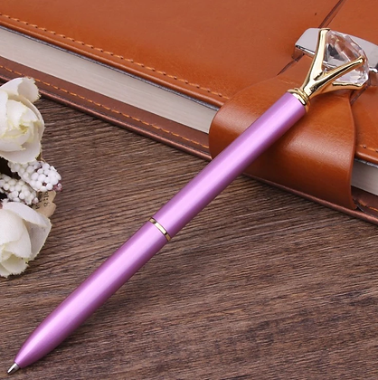 Diamond Top Purple Pen