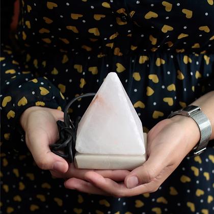 USB Pyramid WHITE Salt Lamp