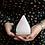 Thumbnail: USB Pyramid WHITE Salt Lamp