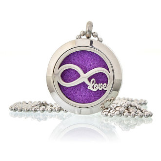 Aromatherapy Diffuser Necklace- Infinity Love