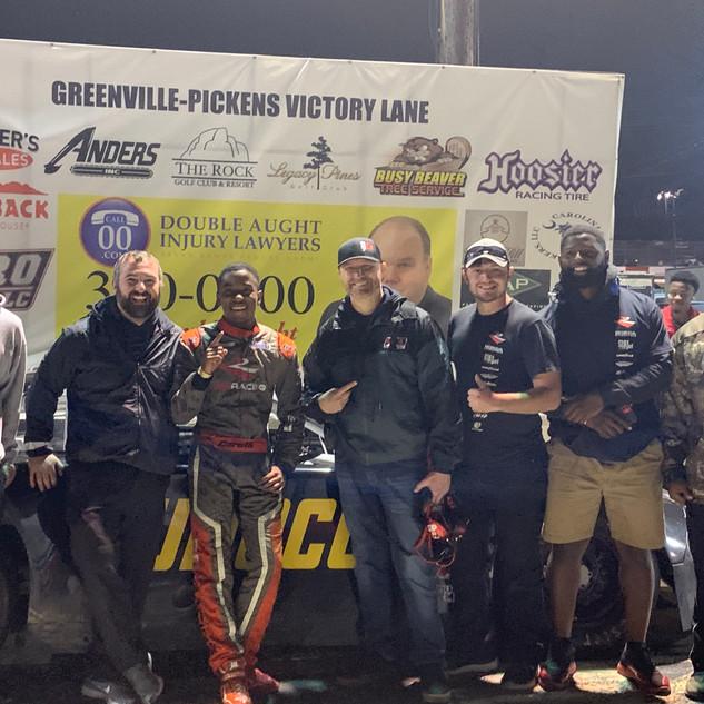 1st LM win - Greenville-Pickens Speedway