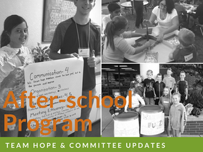 Program Updates: Afterschool Clubs & Committees