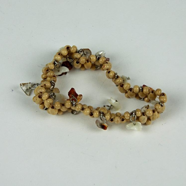Wooden seed bead bracelet