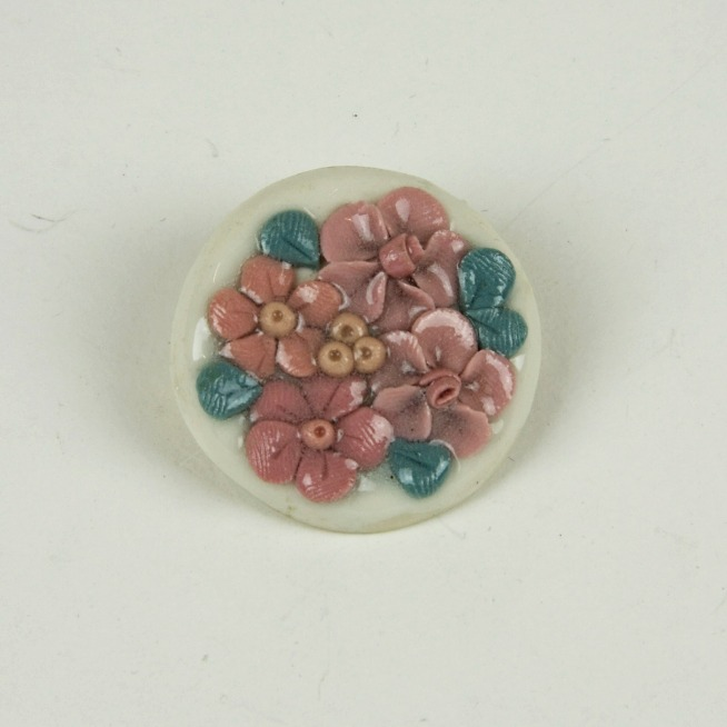 Ceramic floral brooch