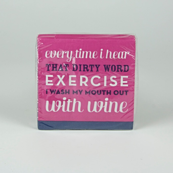Exercise/Wine napkins