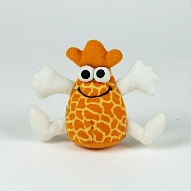 Giraffe print soft toy