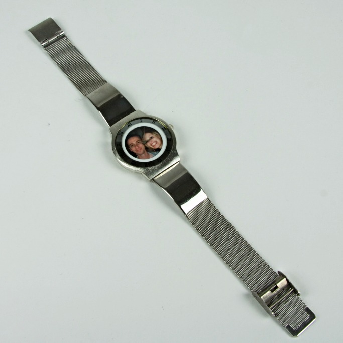 Photo face silver watch