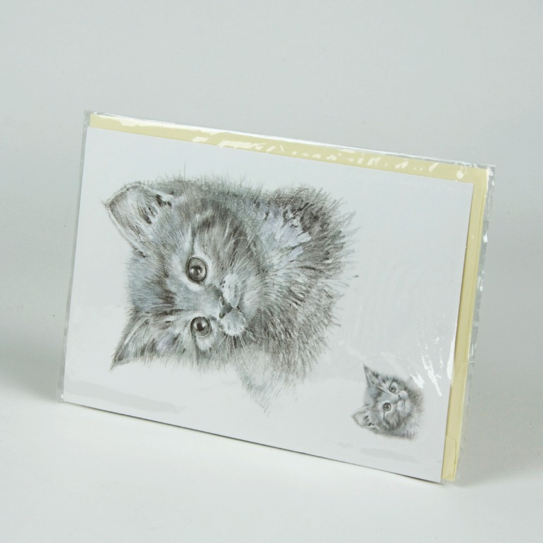Cat sketch greetings card