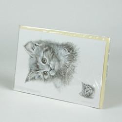 Cat sketch greetings card