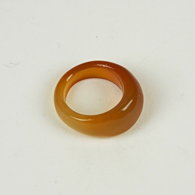 Orange agate ring