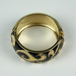 Large black and gold cuff