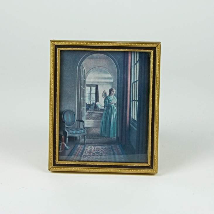 Mini framed painting reproduction