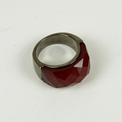 Red cut glass ring