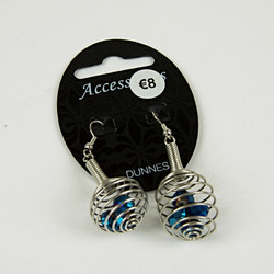 Beaded cage drop earrings