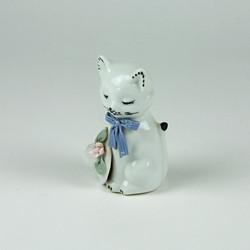 Ceramic sleeping cat ornament