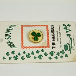 Vintage shamrock pin