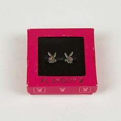 Playboy bunny stud earrings
