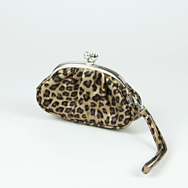 Leopard design purse