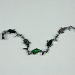 Jumping dolphin beaded bracelet