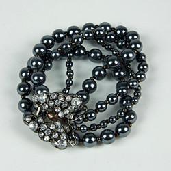 Beaded butterfly sparkle bracelet