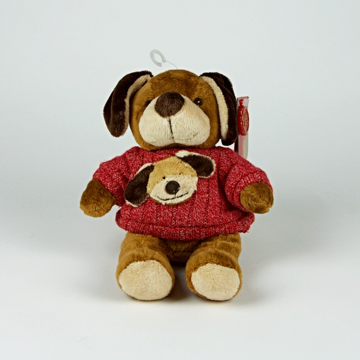 Dog in dog jumper soft toy