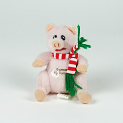 Oinking pig soft toy