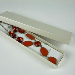 Beaded jewel necklace