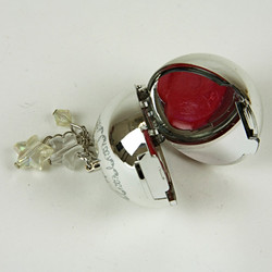 Globe lip balm keyring