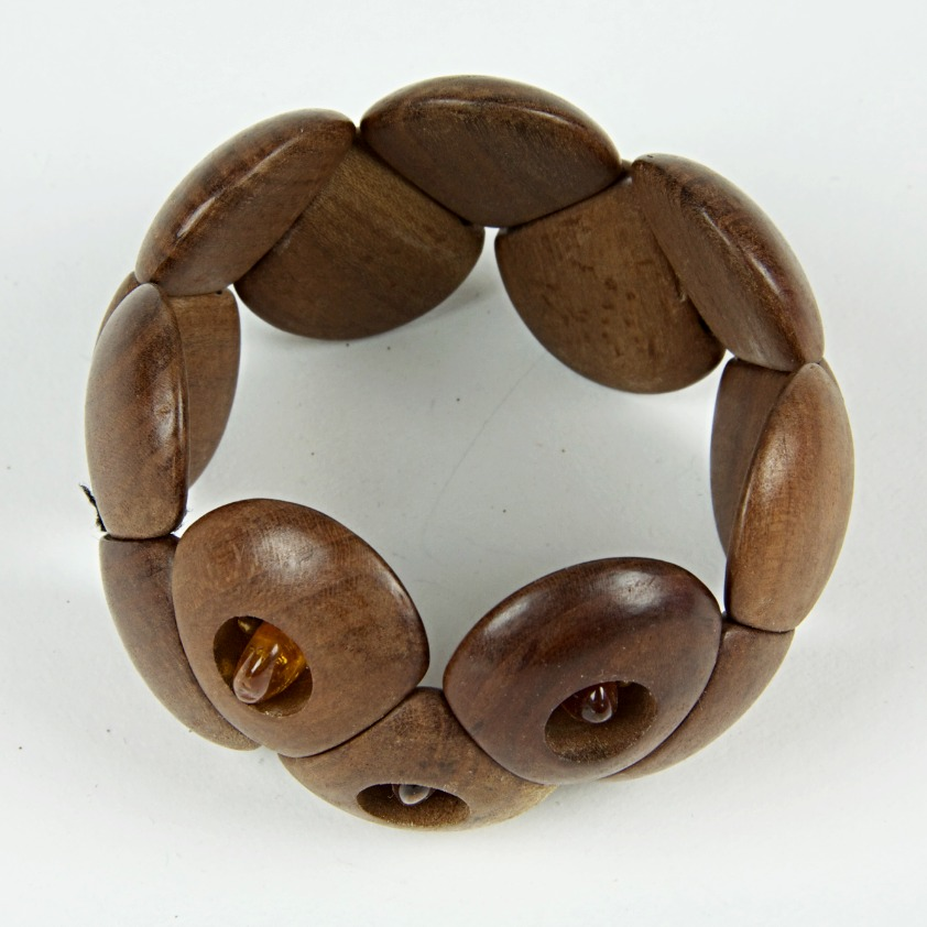 Large wooden beaded bracelet