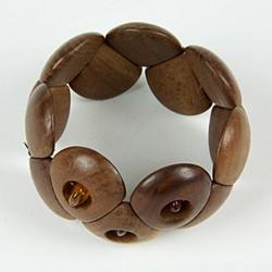 Large wooden beaded bracelet