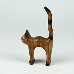Cat with an arched back ornament