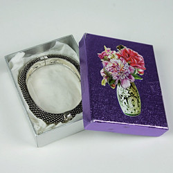Silver patterned cuff