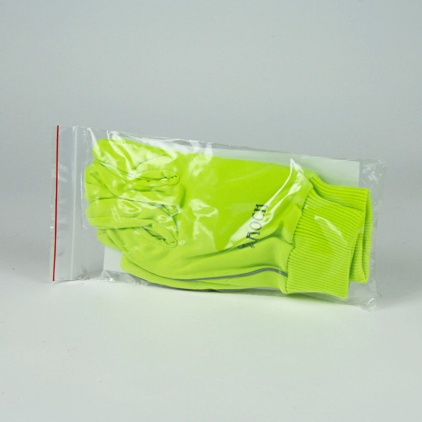 Neon yellow running gloves