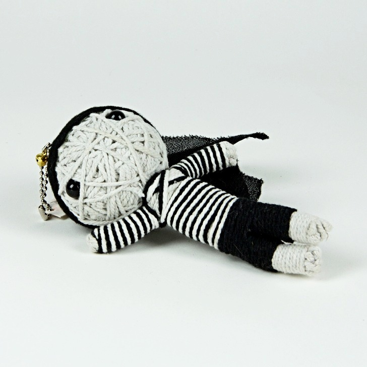 Bank robber string doll