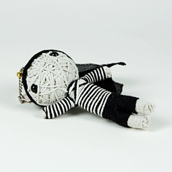 Bank robber string doll