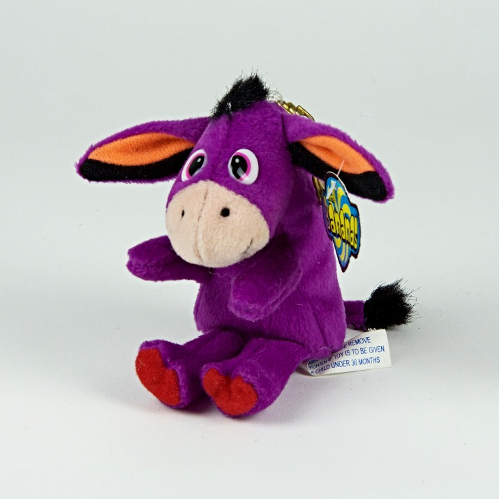 Purple donkey soft toy
