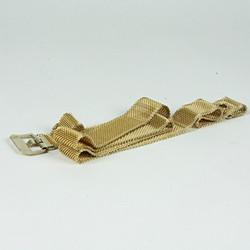 Gold knit belt