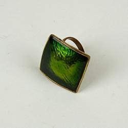 Large enamel jewel ring