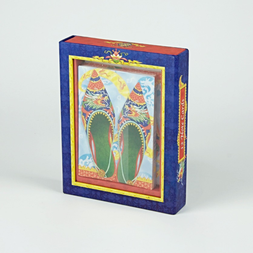Decorative shoe notecards