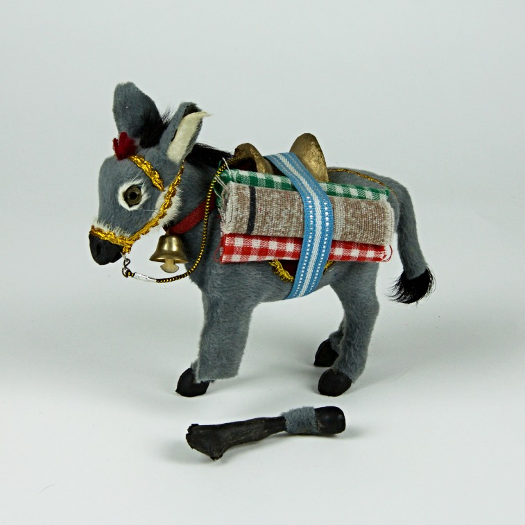 One legged donkey ornament