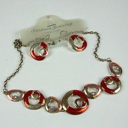 Lifebouy design ring necklace set