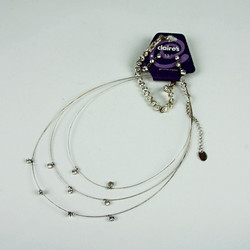 Diamante wire necklace