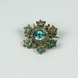 Turquoise gem brooch