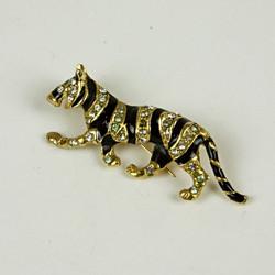 Sparkle tiger brooch
