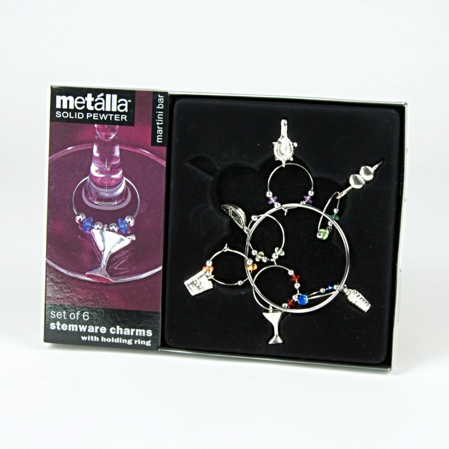 Pewter wine glass charms