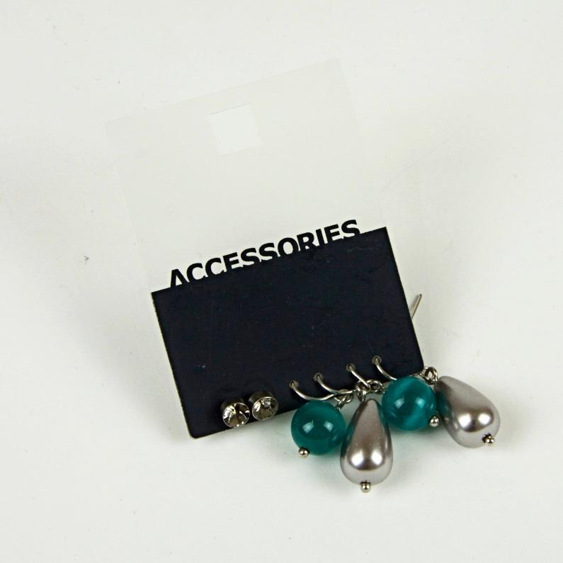 Beaded pearl drop earrings