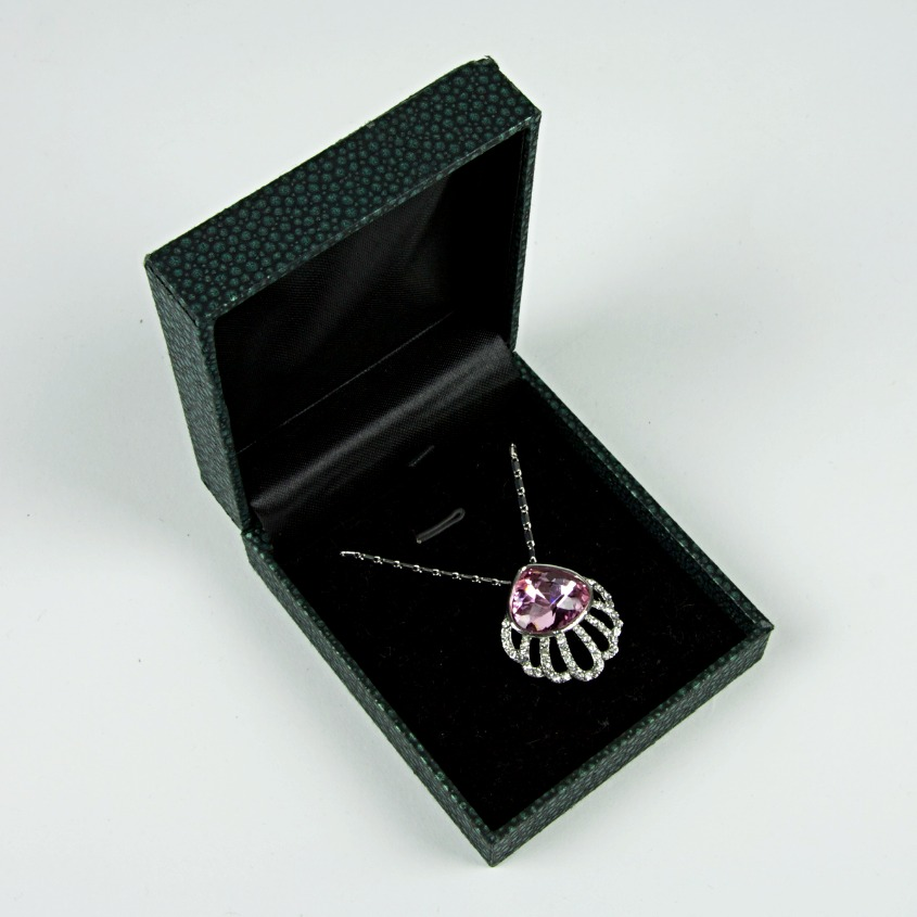Scallop silver jewel necklace