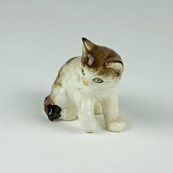 Vintage playful cat ornament