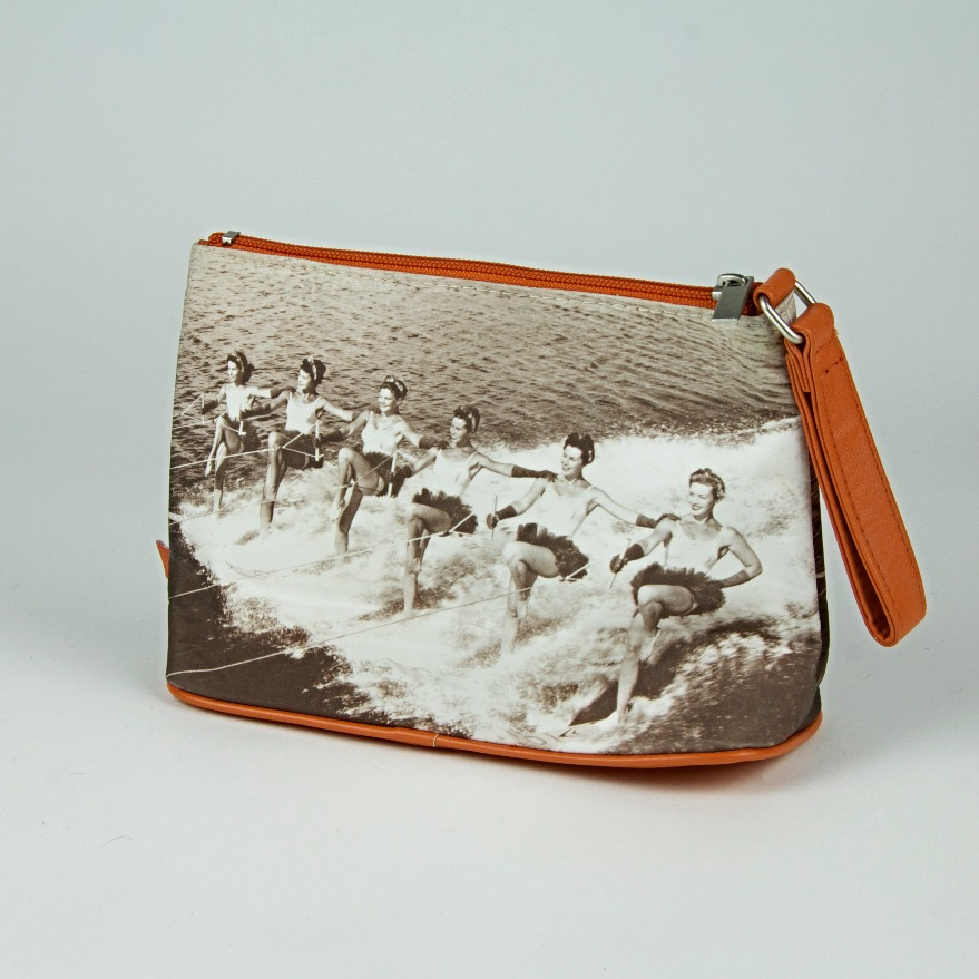 Photo print cosmetics bag