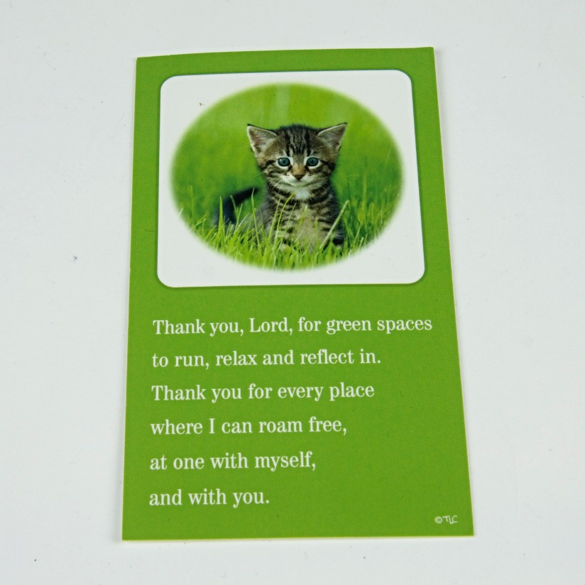 Religious cat bookmark